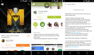 Google play store 4.9 brings new, image-rich ui with a hint of material design