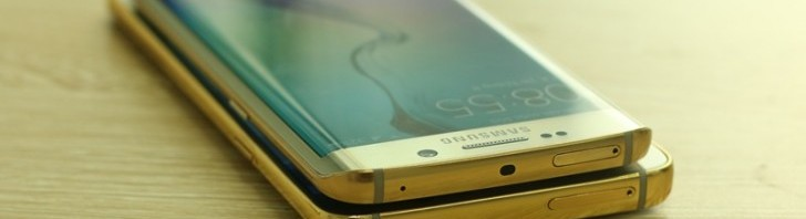 Samsung Galaxy Note5 and S6 edge in real gold