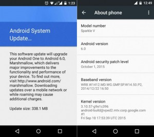 Android one devices are now getting android 6.0 marshmallow updates