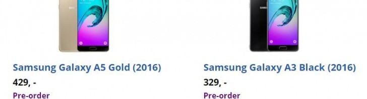 Galaxy A3 and A5 release date outed by a Dutch online retailer