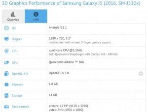 Samsung galaxy j5 (2016) – benchmarked, specs revealed