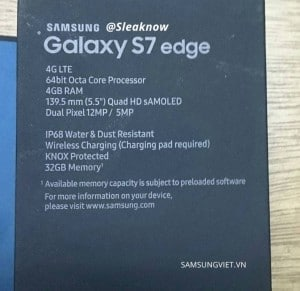 Galaxy S7 edge retail box