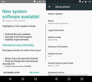 Android 6.0.1 update coming to moto x play units in canada and india