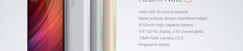Redmi Note 4: Helio X20, 4100mAh battery 5
