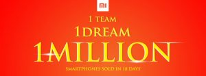 Xiaomi sold 1m phones in india in just 18 days!