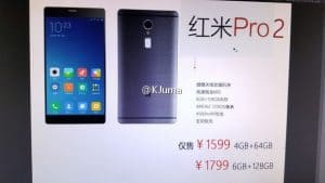 Xiaomi redmi pro 2 leaks