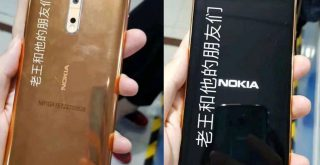 Nokia 8 Real Pictures Flowed out in Gold-Copper Colour