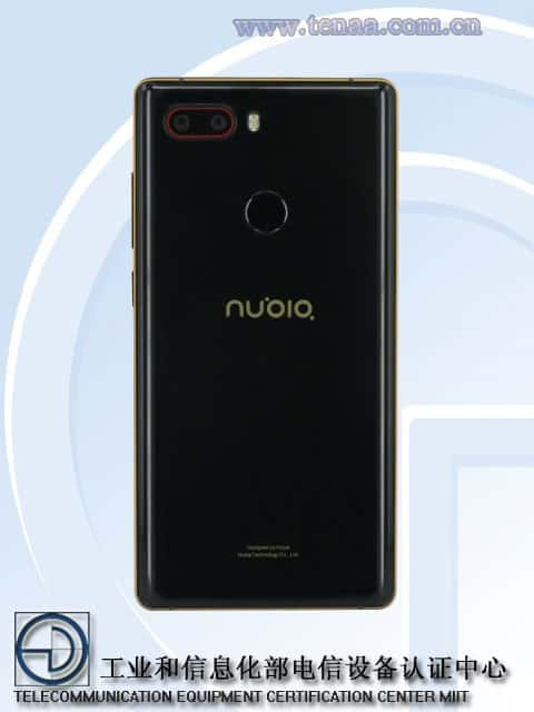 Nubia nx595j with 5.5 inch fhd, four cameras, 8gb ram shows in tenaa