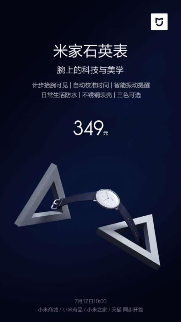 Xiaomi takes on the lenovo watch 9 with its new mijia quartz watch