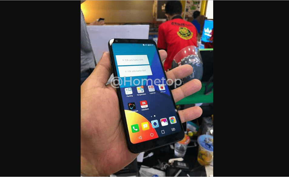 Lg q9 hands-on picture flowed out to demonstrate design