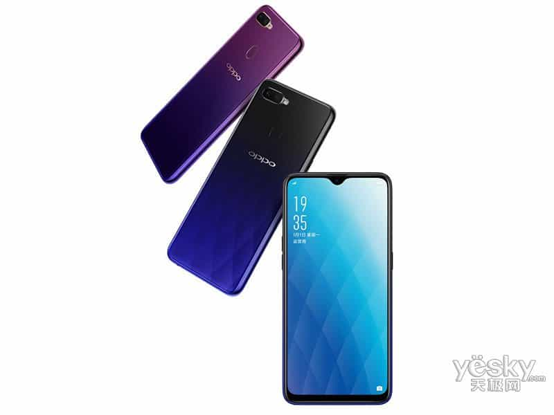 Technical specs and official renders of oppo a7x displays water-drop notched display and helio p60 cpu