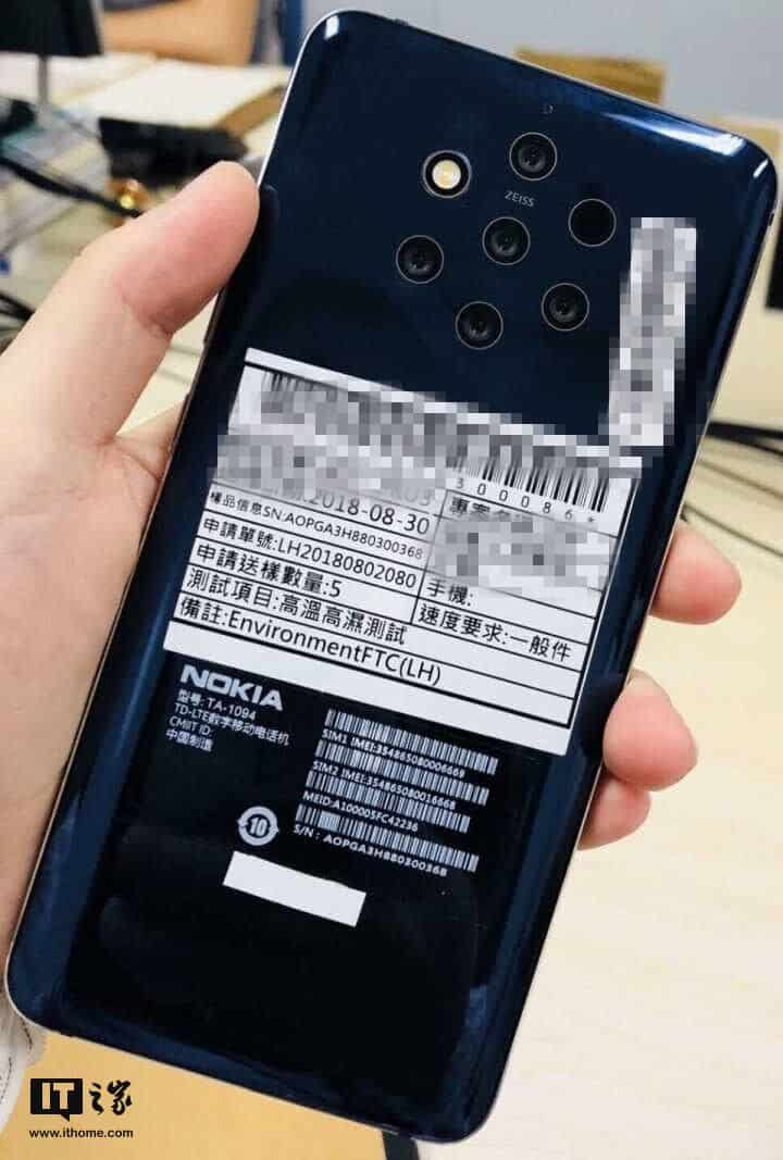 Rumoured nokia 9 (ta-1094) packing 5 rear cameras spotted online