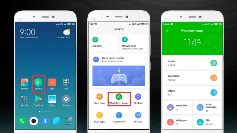 Xiaomi smartphones take whatsapp cleaner function in miui 10