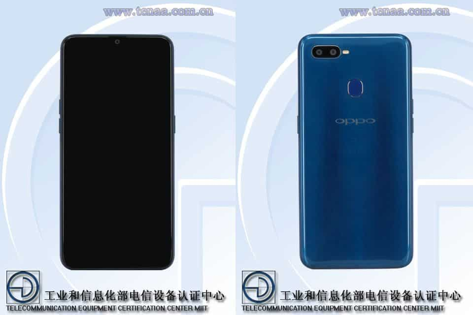 Oppo a7 tenaa listing updated with full specifications