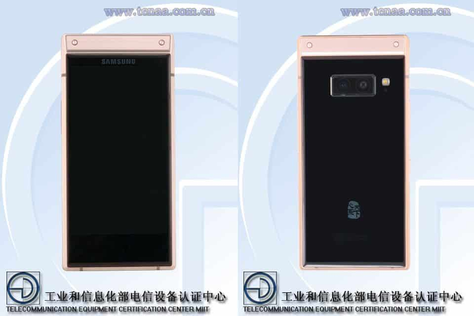 Samsung w2019 pics look on tenaa to demonstrate design