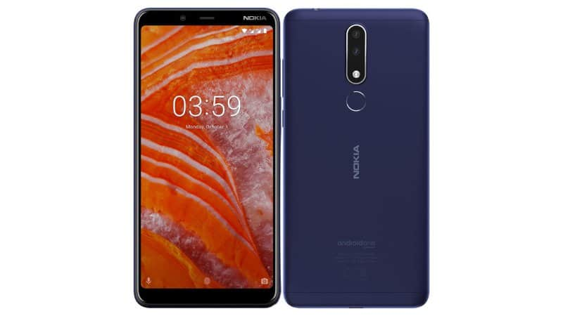 Nokia 3.1 plus with 5.99-inch hd+ present and mediatek p22 soc unveiled in india