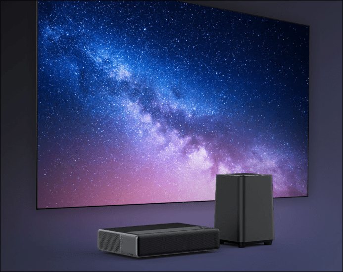 Xiaomi launches wemax one laser projector and wemax s1 subwoofer for sale on youpin website