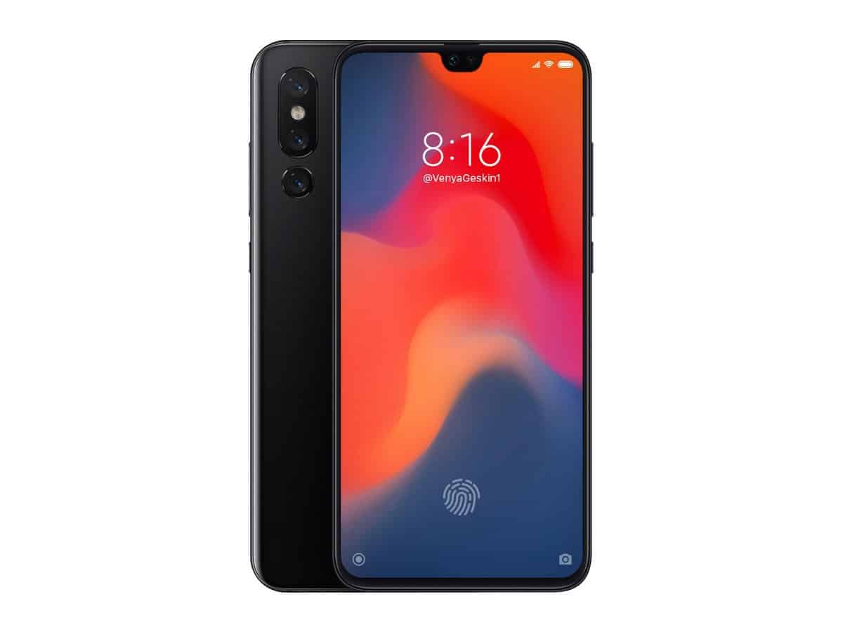 Xiaomi mi 9 render appears with probable technical specs