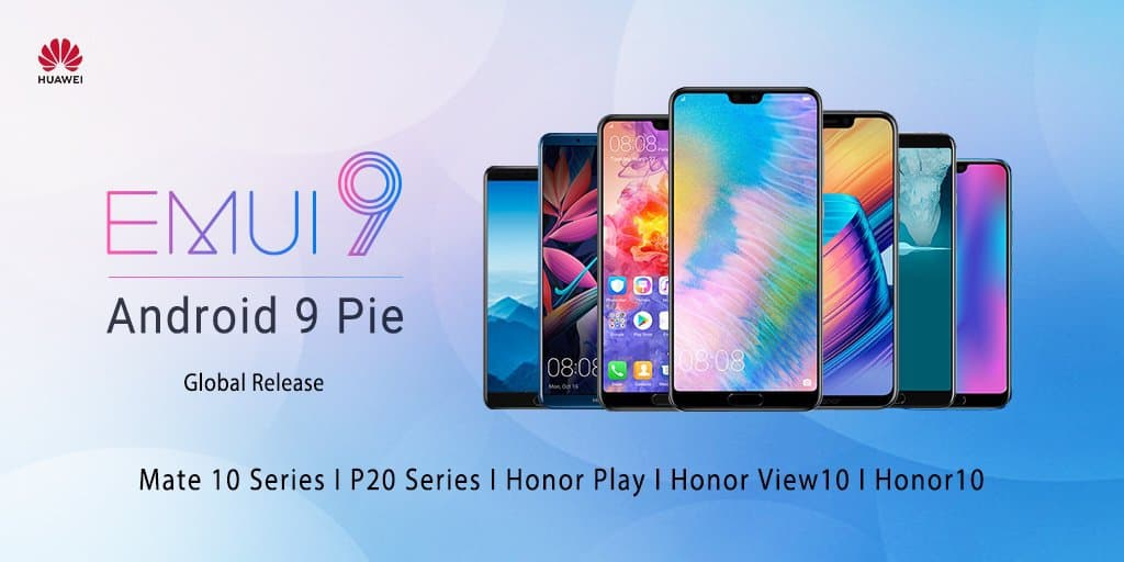 Android pie stable update hits huawei p20/p20 pro, mate 10 pro, honor play/view 10/10
