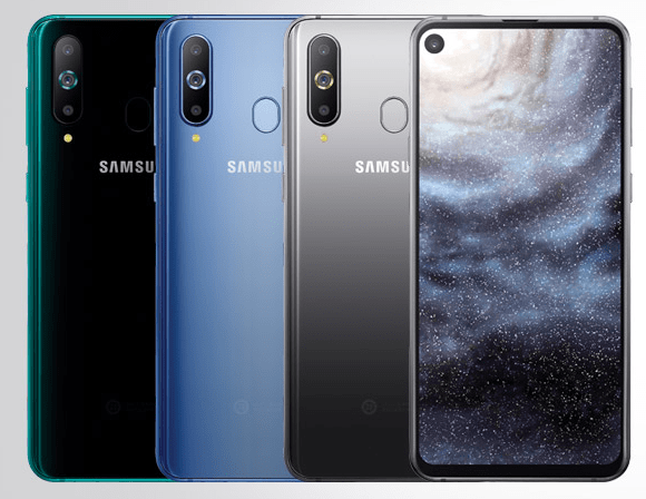 Samsung galaxy a8s noted with infinity-o display, snapdragon 710 cpu, triple rear cameras but no audio jack