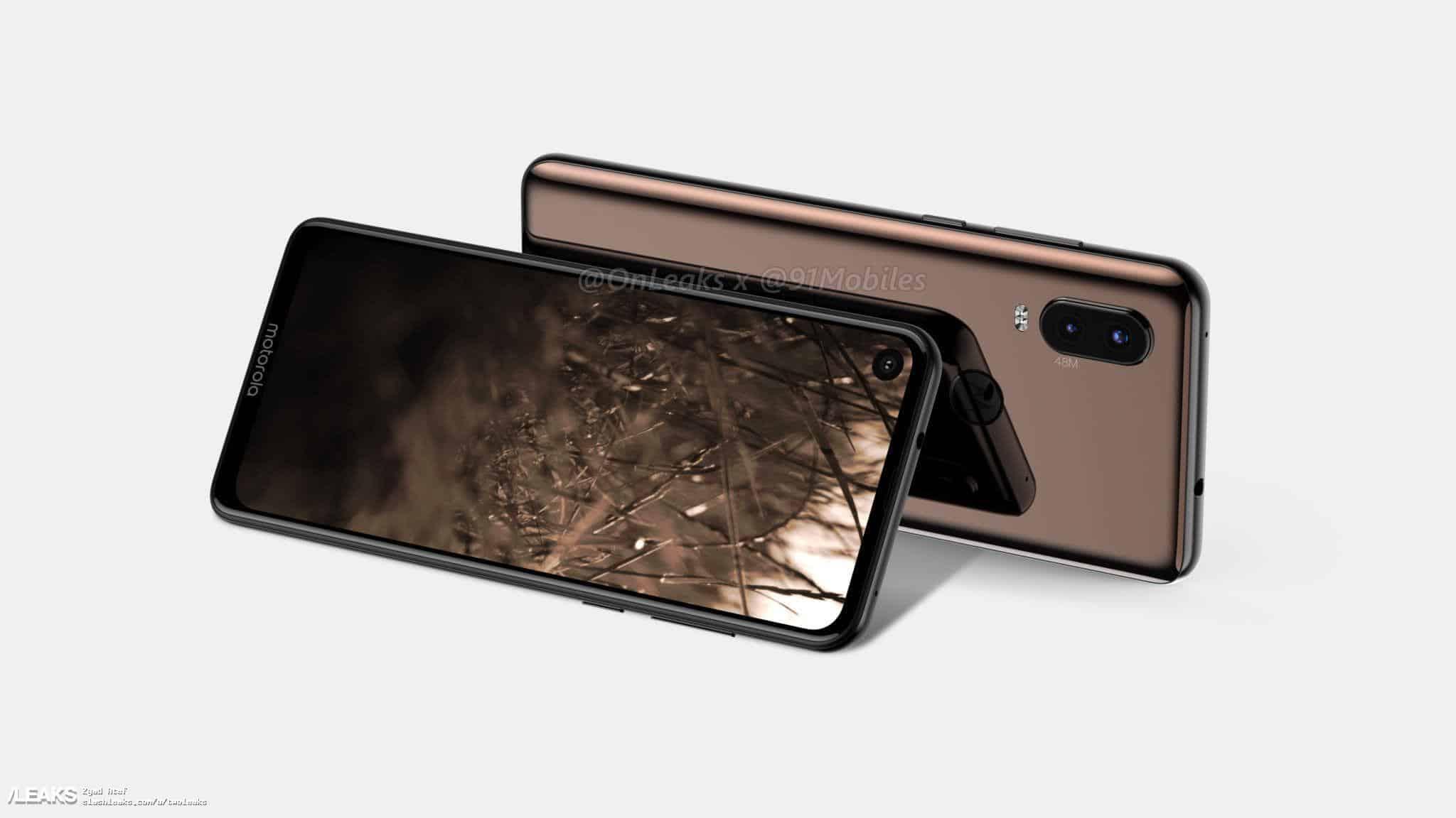 Motorola p40 360° video render reveals will ditch notch for in-display digital camera