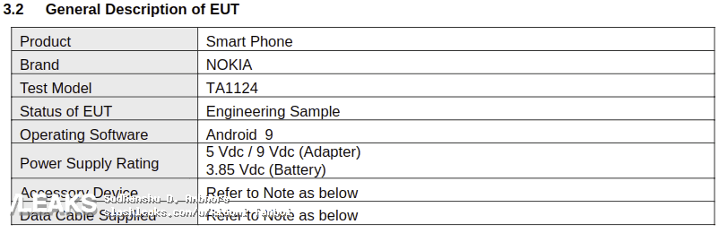 """Nokia ta-1124 with sd 439, 5.99"""" panel and dual cameras seen at the fcc"""