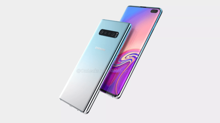 Samsung galaxy s10 plus 360-degree renders demonstrate six cameras and bigger show space