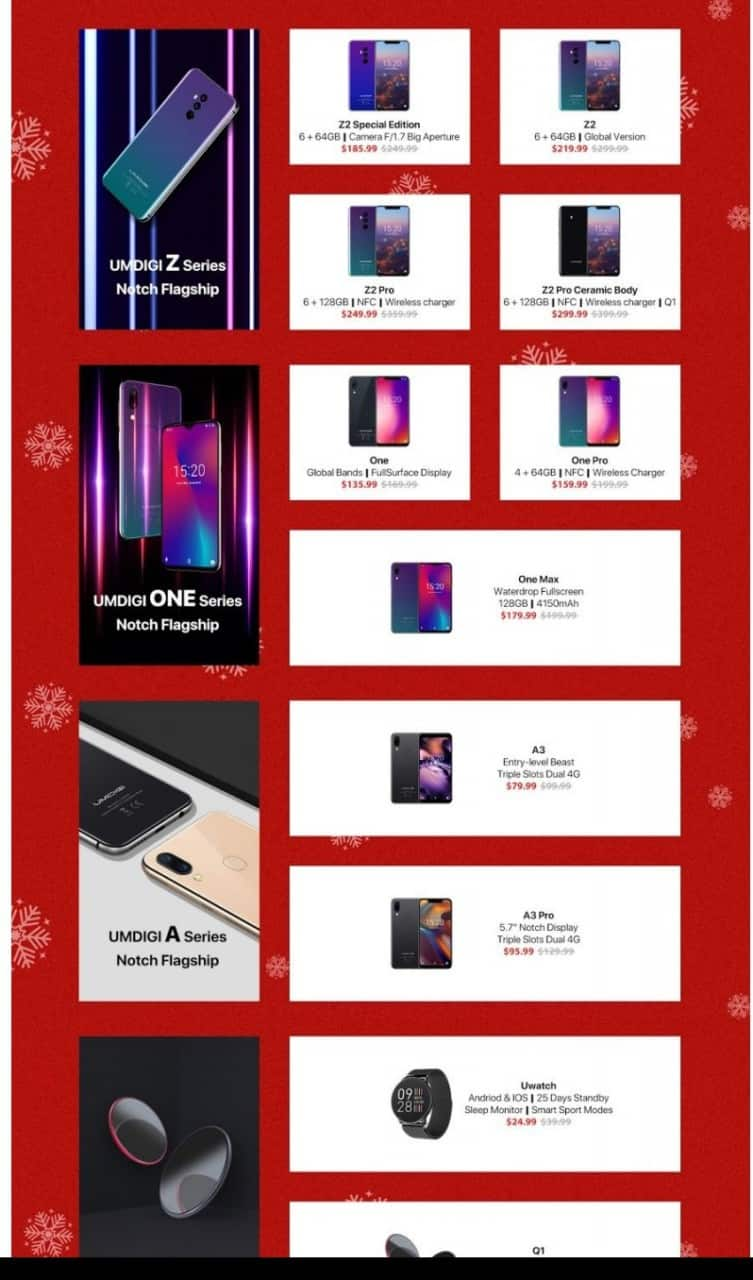 Umidigi unveils its official online store for christmas sales with gifts on suggests