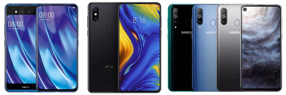 Vivo nex dual display vs samsung galaxy a8s vs xiaomi mi mix 3