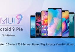 Android 9 Pie based EMUI 9 is presently rolling out globally to key Huawei smartphones