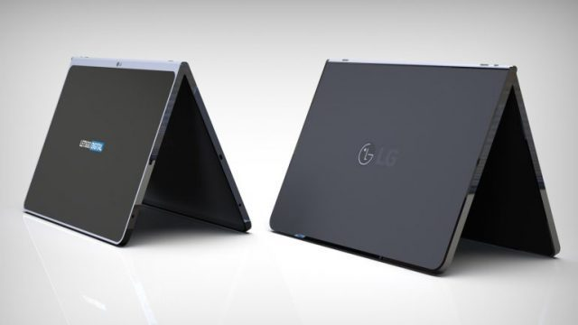 Lg patented a new tablet with cover and wireless keyboard