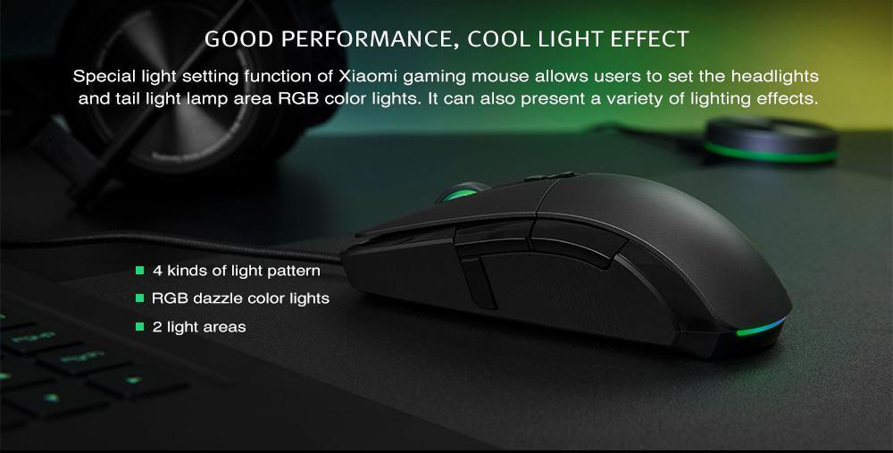 Xiaomi cablato / wireless mouse da gioco 7200dpi programmabile rgb