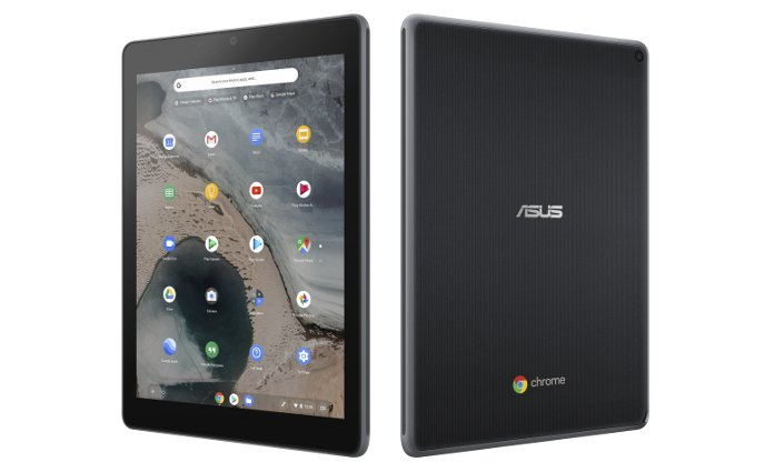 Asus chromebook tablet ct100 is a chrome operation system tab targeted at kids