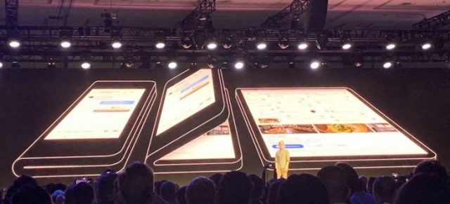 Samsung's Foldable Phone Showcased