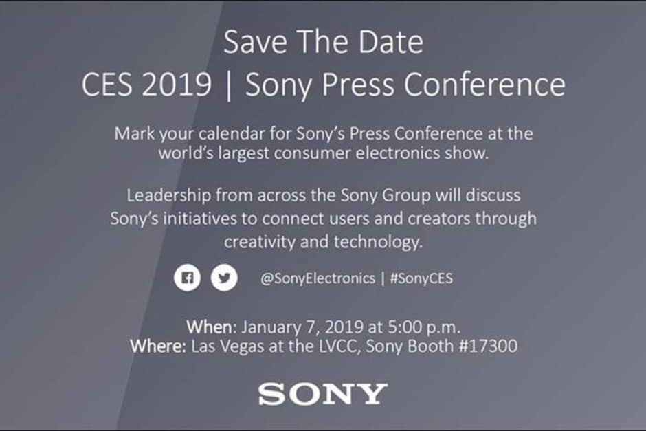 Sony ces 2019 january 7 occasion confirmed; xperia xa3 and xperia xa3 ultra might be launching