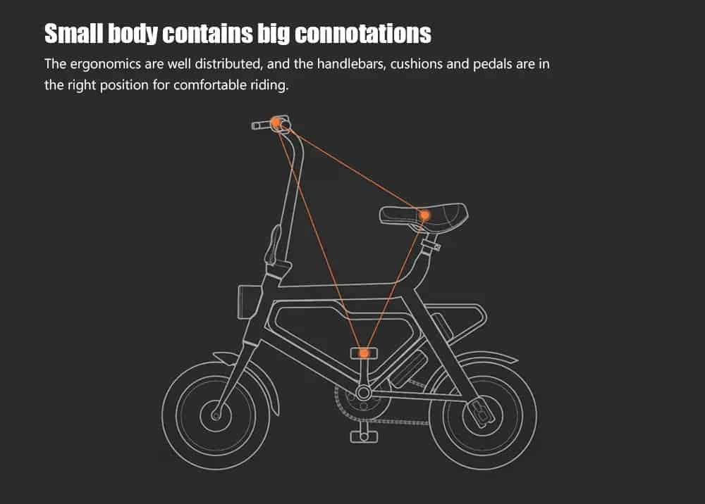 Xiaomi himo v1 portable folding electric moped bicycle ergonomic design multi-mode riding