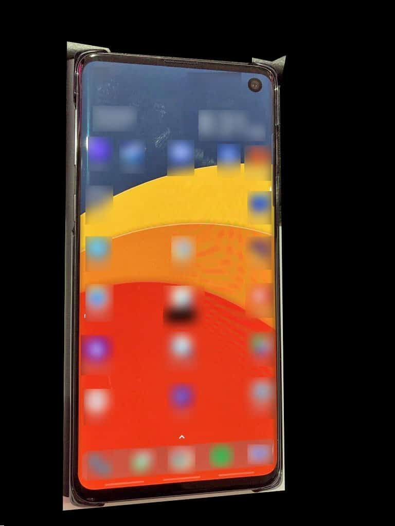 Samsung galaxy s10 real image leak reveals the phone's front screen