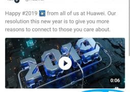 Huawei punishes employee that tweeted New year greetings with an iPhone
