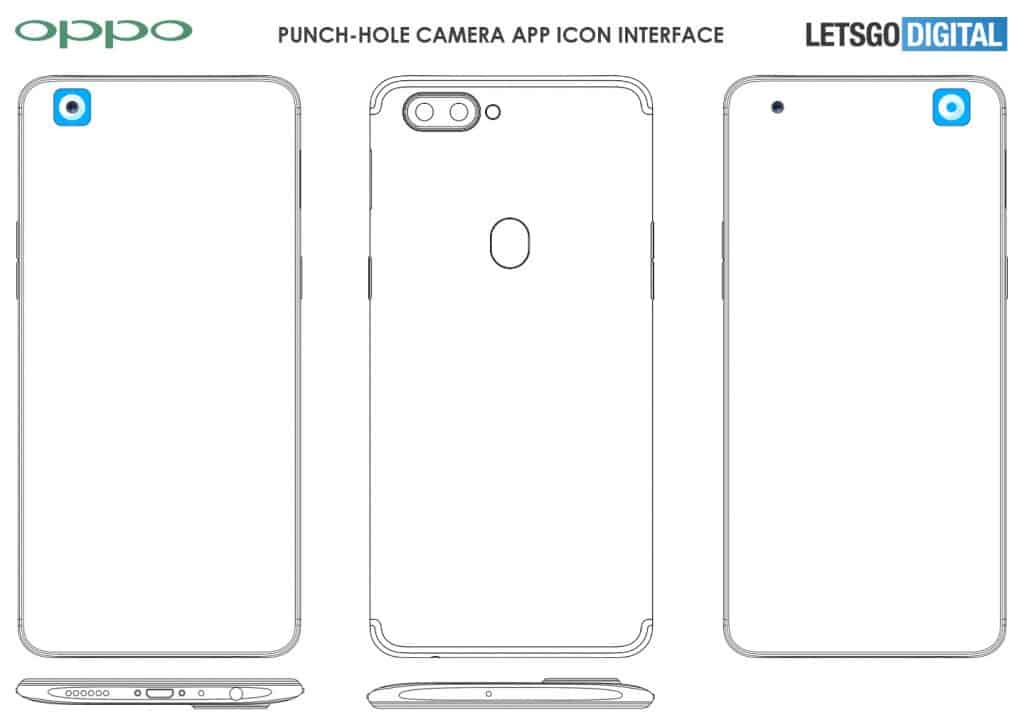 Oppo punch-hole screen patent found