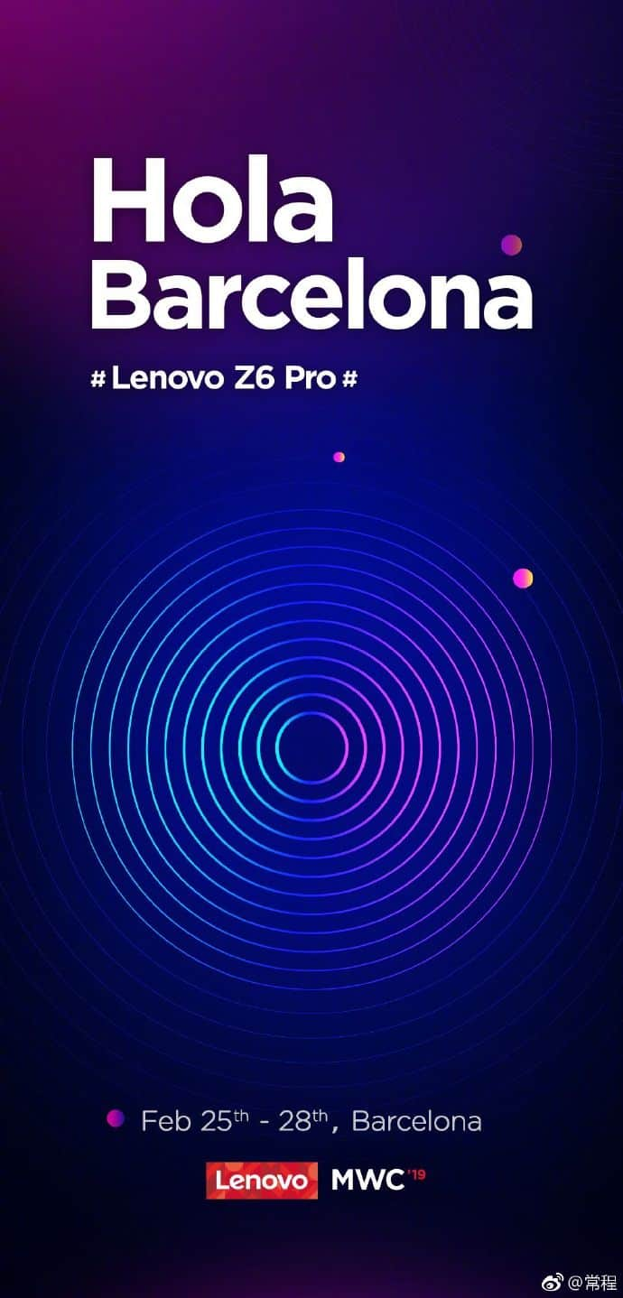 Lenovo z6 pro established to launch at mwc 2019