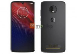 Moto Z4 looks familiar in a design render leak