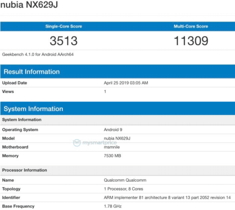 Nubia Red Magic 3 hits Geekbench sporting SD855