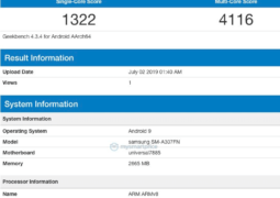 Samsung Galaxy A30s (SM-A307FN) Geekbench