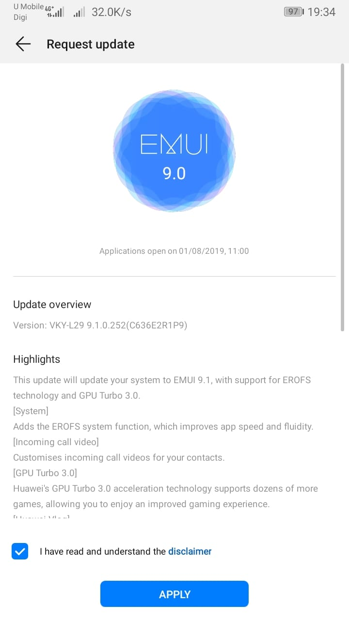 EMUI 9.1 update brings GPU Turbo 3.0 and EROFS file system to the Huawei P10 Plus