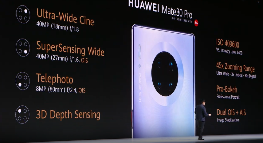 Huawei Mate 30 Pro on the top of DxOMark