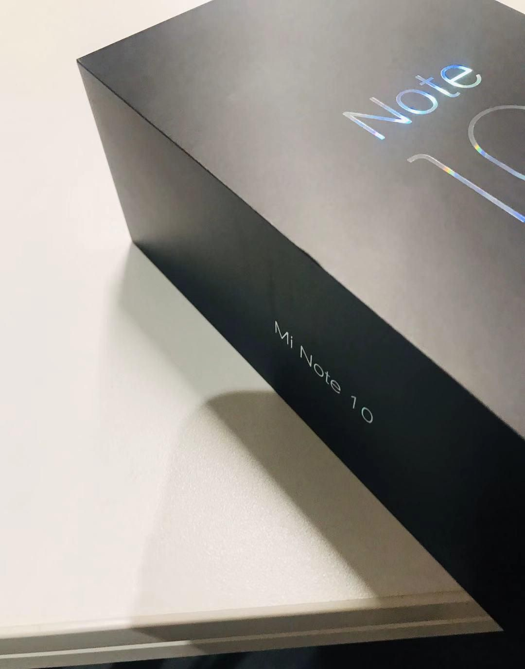 Xiaomi Mi Note 10's retail box leaked