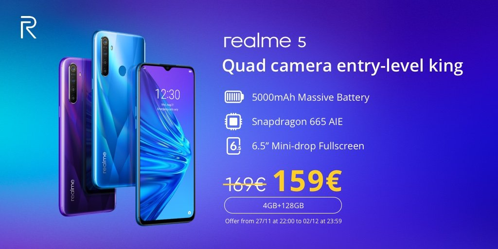 Realme 5 gets European launch at €169