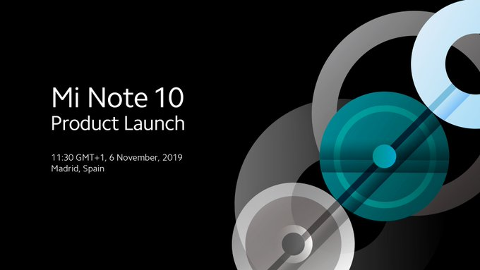 Xiaomi Mi Note 10 launching on November 6 in Spain