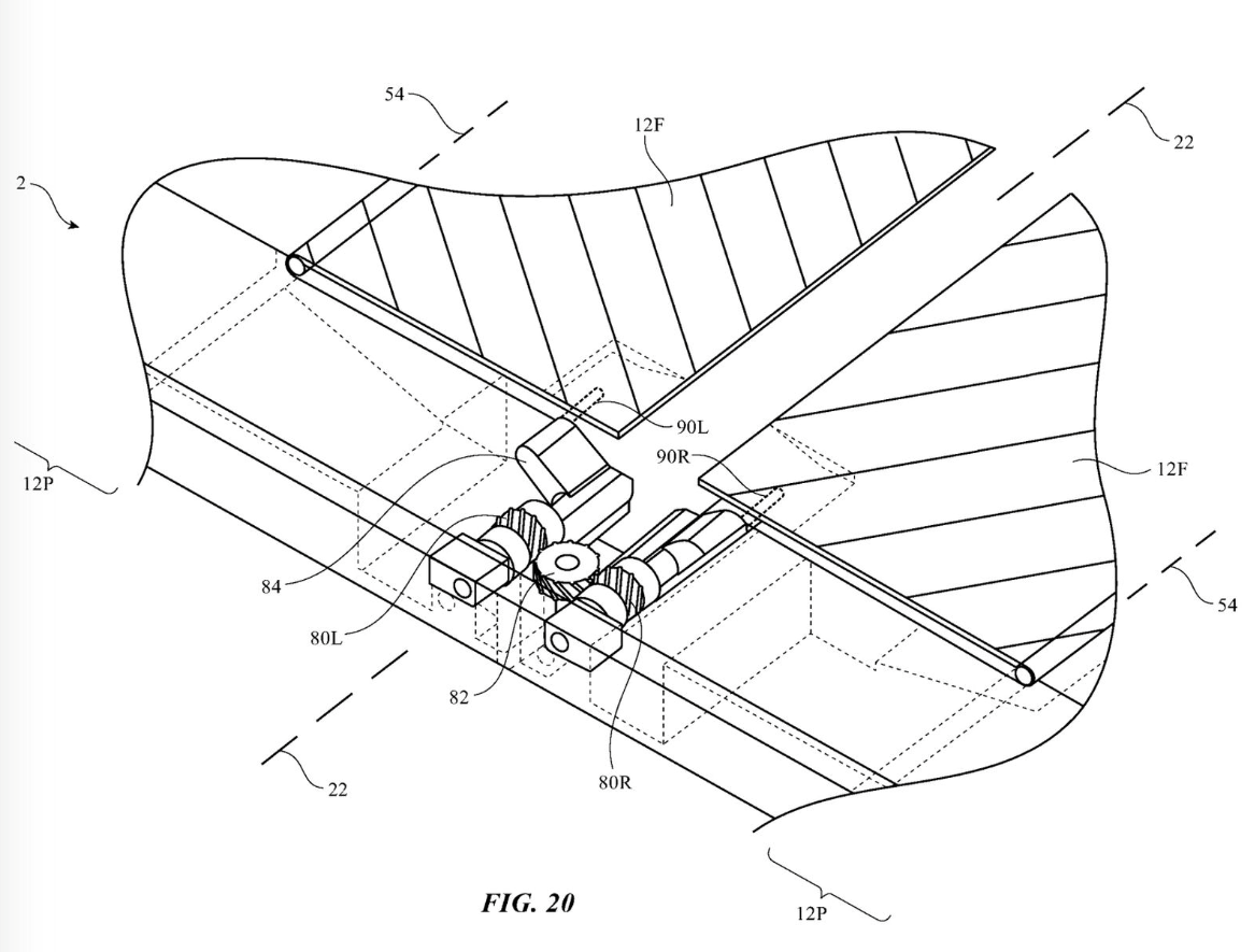 Apple patents foldable device, with Moving flaps