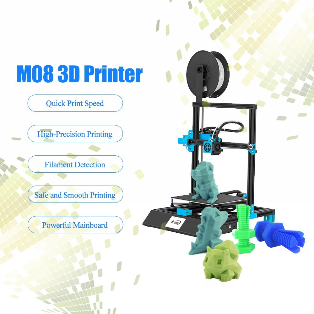 M08 High-precision 3D Printer 3.8 Inch Touchscreen DIY Self-assembly 2